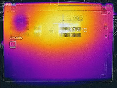 Thermal profile, underside (max load)