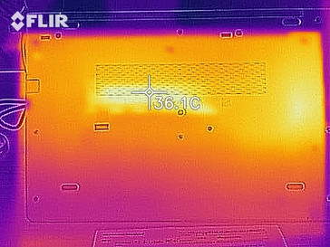 Heat map during idle - bottom