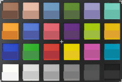 ColorChecker: The lower half of each area of color displays the reference color