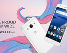 Huawei Y3 2018 Android Go smartphone with MediaTek MT6737M processor (Source: Huawei South Africa)