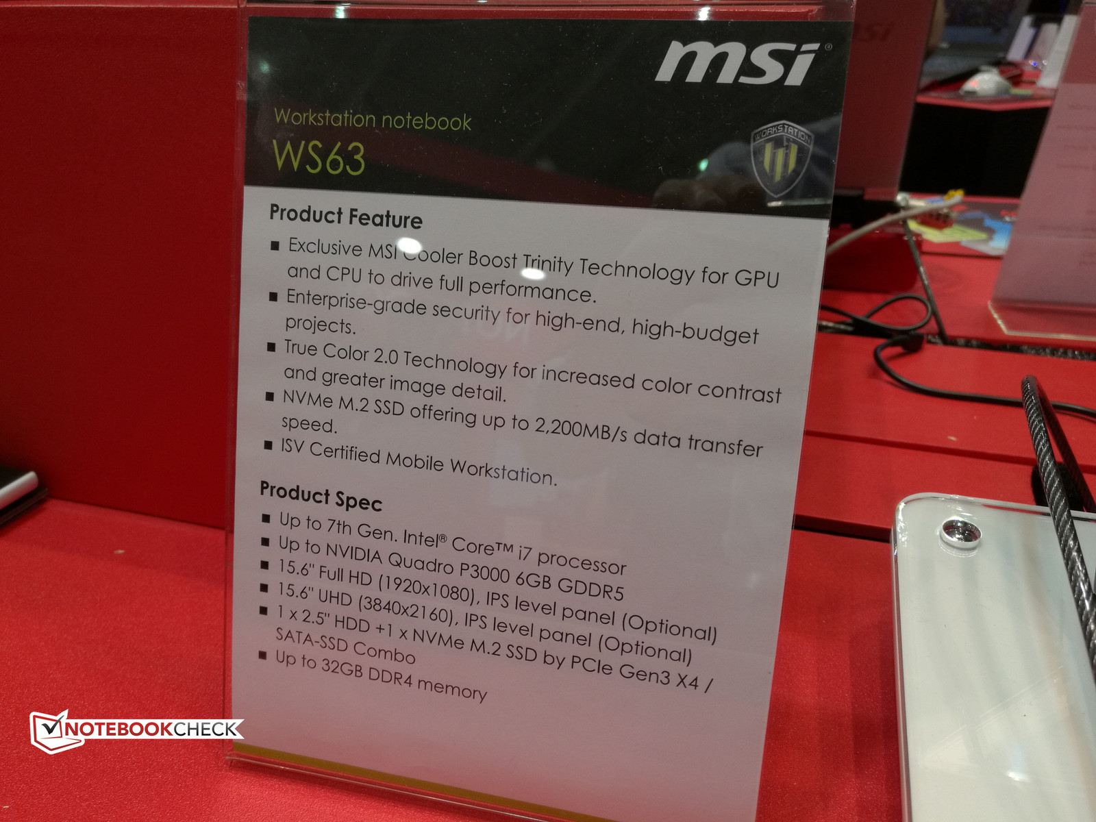 MSI WS63 workstation to be refreshed with unannounced Quadro GPU