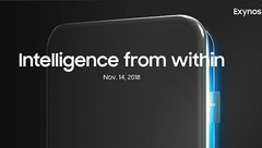 "Samsung Exynos ""Intelligence from within"" teaser November 14 launch event (Source: Samsung Exynos on Twitter)"