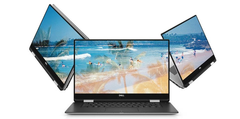 "Dell XPS 15 9575 convertible: ""Impossibly thin. Improbably powerful"" - and not upgradeable to 32 GB RAM. (Source: Dell)"