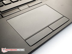 The touchpad features standalone buttons performs well