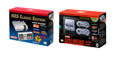 Keep your NES and SNES Classic Edition consoles in good condition as they are likely to go up in value after the holiday season. (Image sources: Nintendo)