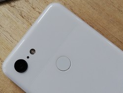 A look at the back of the Google Pixel 3 with its single camera and fingerprint sensor