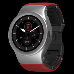 BLOCKS Core modular smartwatch Stainless Steel with Sunrise Red strap