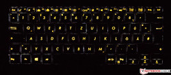 the keyboard of the Asus ZenBook Flip S (backlit)