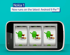 Nokia 1 units are now receiving an Android Pie update notification. (Source: Twitter)
