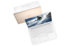 The rose-gold Dell XPS 13 9380 has a starting weight of just 2.7 lbs/1.23 kg. (Source: Dell)