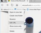 Microsoft Edge - Edit URL for Favorites feature in Windows 10 Insider Build 17046 (Source: Microsoft)