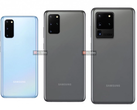 The full-suite of Galaxy S20 devices to be announced next month. (Image source: @ishanagarwal24 & 91mobiles via XDA Developers)
