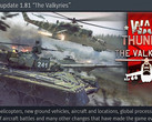 "War Thunder 1.81 ""The Walkyries"" update now available September 2018, attack helicopters included"