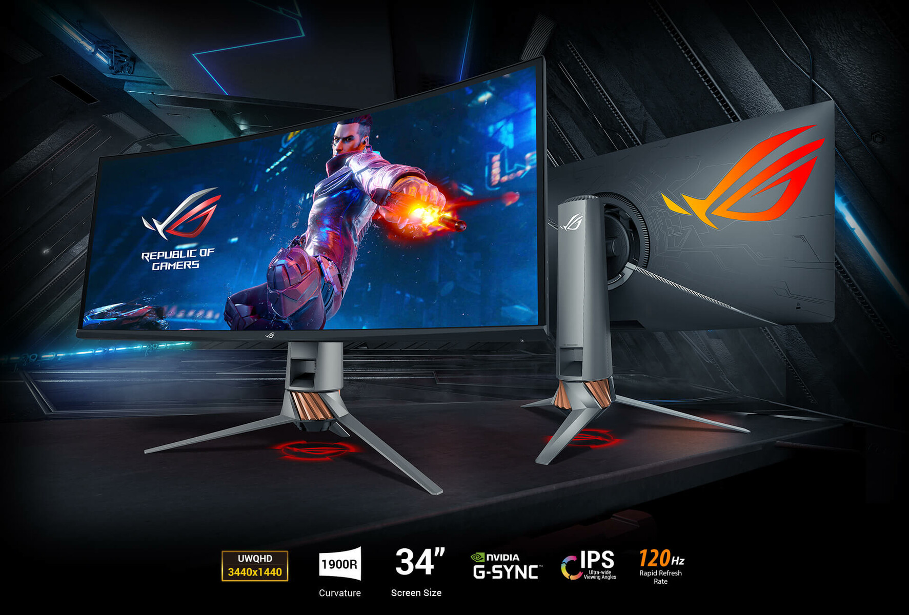 The latest ASUS ROG ultra-wide gaming monitor is overclockable to