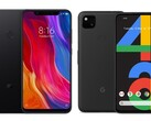 The Xiaomi Mi 8 will have to cloak itself as a Google Pixel 4a for this custom ROM. (Image source: Xiaomi/Google - edited)