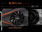 Gigabyte's GTX 1080 Mini ITX 8G is 3.7-inch shorter than Nvidia's reference card. (Source: Gigabyte)