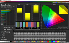ColorChecker (profile: Cinema, target color space: P3)