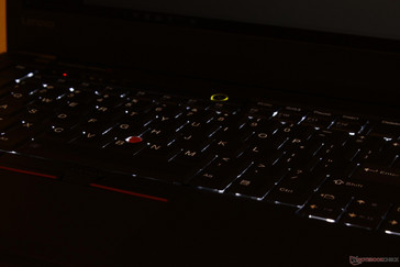 Two levels of keyboard backlight brightness