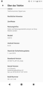 Software Sony Xperia XA2 Plus
