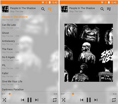 New audio player style in VLC for Android 2.5 (Source: Geoffrey Métais)