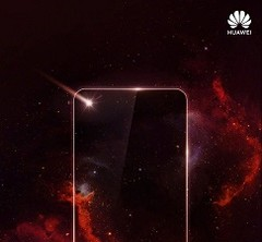 The leaked Huawei render suggesting Infinity-O like display technology. (Source: IceUniverse)