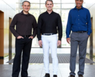 NUVIA Inc founders John Bruno, Gerard Williams III, and Manu Gulati. (Image via NUVIA, distributed by Reuters)