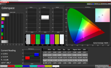 Color Space (Normal color mode, sRGB target color space)