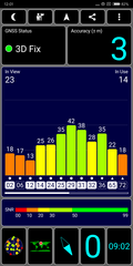 GPS test outdoors