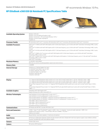 HP EliteBook x360 830 G6 specifications