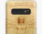 Ice universe used da Vinci's Vitruvian Man to tease the Galaxy Note 10. (Image source: Redbubble)