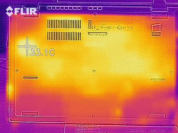 Thermal image while idling - bottom