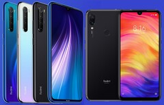 The Redmi Note 8 and Redmi Note 7 were released in 2019. (Image source: Xiaomi - edited)