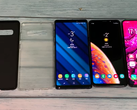 The two cases line up with a Samsung Galaxy Note 9, Samsung Galaxy S9+, and an Oppo Find X. (Source: YouTube/Ice universe)