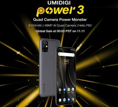 UMIDIGI Power 3 coming next month wth MediaTek Helio P60 and generous battery (Source: UMIDIGI)