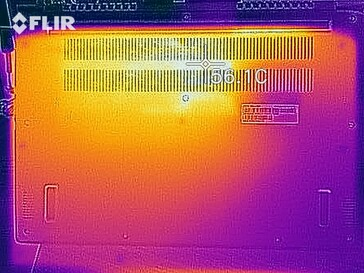 Heat map under load - bottom