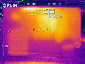 Thermal image at ideal - bottom case