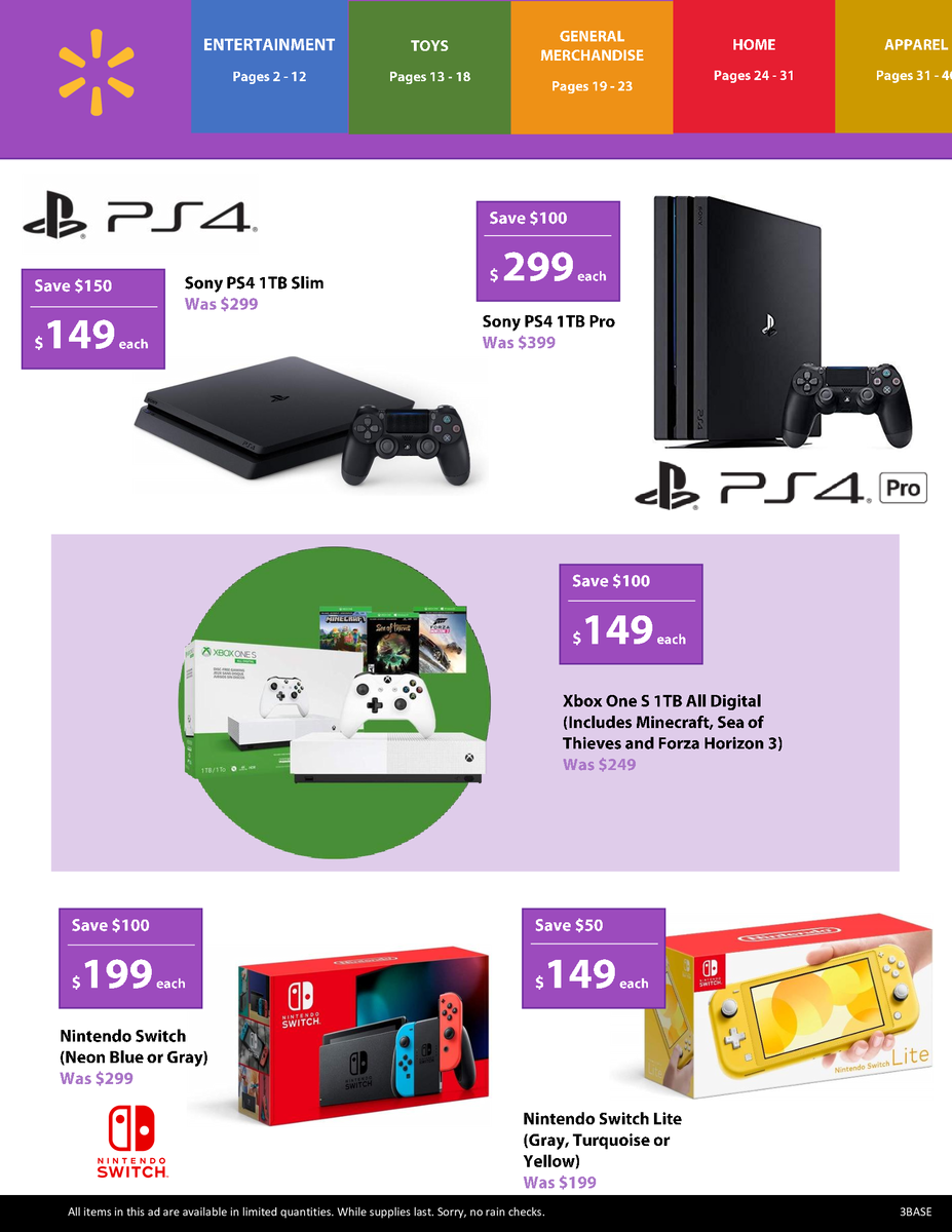 Screenshot Of Rumored Walmart Black Friday Deal Includes A Half Price Sony Ps4 1 Tb Slim Console And A Nintendo Switch For Under Us 200 Notebookcheck Net News
