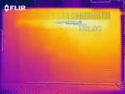 Heat map of the underside of the device at idle