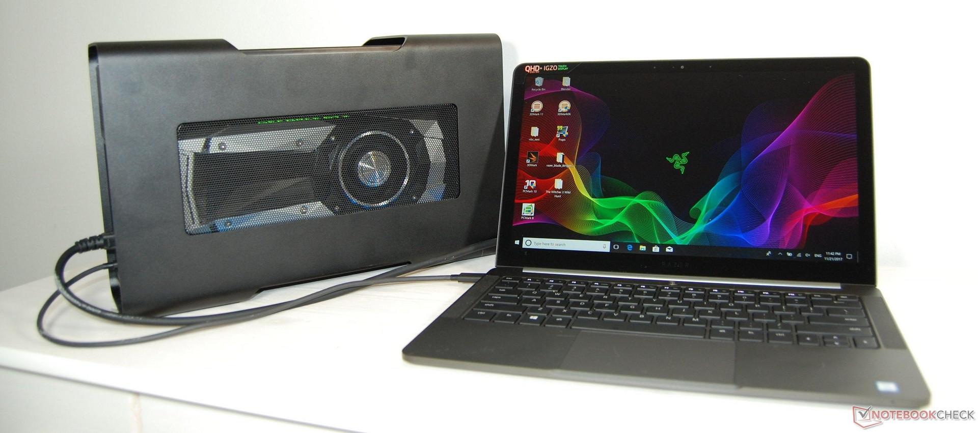 223dbb9df3a6 Razer Core V2 + Blade Stealth (i7-8550U) Review - NotebookCheck.net ...