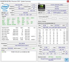 Dell Precision 3530 (Xeon E-2176M, Quadro P600) Workstation