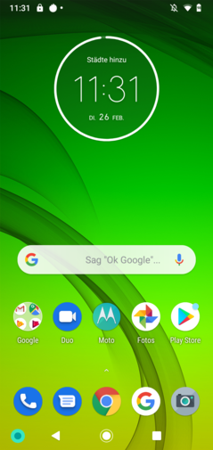 Default home screen