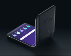 Samsung's foldable design is reminiscent of the once popular clamshell phones. (Source: NieweMobile.NL)