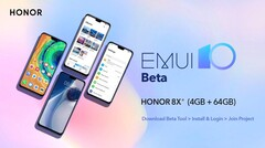 Honor has announced an EMUI 10 beta for the 8X. (Source: Twitter)