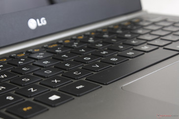 Key feedback feels softer than the keys of the HP Spectre 13