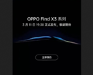 "The ""Find X3 launch"" leak. (Source: Weibo)"