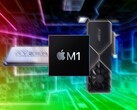 Apple M1-series chips could challenge AMD's Threadrippers and Nvidia's Ampere cards in some tests. (Image source: AMD/Apple/Nvidia/Pinterest - edited)