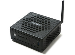 The ZBOX CI329 features ZOTAC's signature honeycomb fanless design for improved passive cooling. (Source: Zotac)