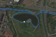 GPS Test: Samsung Galaxy Tab A 10.1 (2019) – Cycling around a lake
