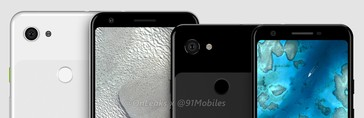 The Pixel 3 Lite XL and Pixel 3 Lite. (Source: Onleaks)