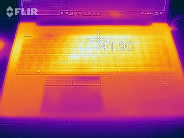 Heat-map of the top case during a stress test